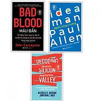Combo 3 cuốn: BAD BLOOD - Máu Bẩn + PAUL ALLEN - Người Hùng Ý Tưởng + DECODING SILICON VALLEY - Giải mã bí ẩn thung lũng Silicon ) + Tặng kèm bookmark PD