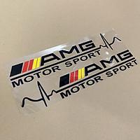 Tem dán cánh xe ô tô Sport AMG MOTOR (Đen)