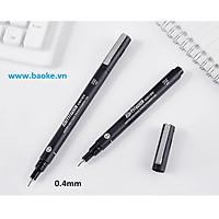Bút nước vẽ kỹ thuật 0.4mm - BK900 mực đen