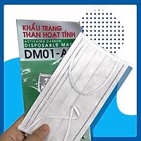 Khẩu trang y tế than hoạt tính Neovision DM01- AC Khẩu trang 4 lớp lọc bụi : Lớp vải không dệt (non-woven) - XSAFE