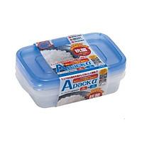 Set 2 hộp đựng thực phẩm chịu nhiệt lò vi sóng Apack ∝ 400ml nội địa Nhật Bản