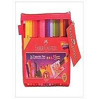 Bút Lông Màu Connector+Sách Tô Màu+Túi Lưới 88-2008-01 Faber Castell