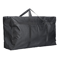 Jingtang thick Oxford cloth moving bag travel storage waterproof packing bag extra large black reinforcement 90*48*27 cm (125 liters)
