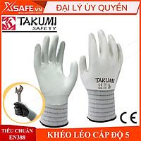 Găng tay bảo hộ Takumi NB-620 độ chính xác cao, phủ lớp nitrile chống dầu nhớt, tăng độ bám Bao tay bảo hộ lao động