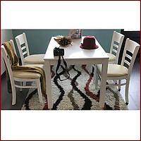 Bộ bàn ăn 4 ghế ( trắng) JSC