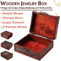 Vintage Cute  Wooden Jewelry Box With Password Lock Treasure Chest Storage Wood Crate Case Organizer Case Gift Home Office Decoration