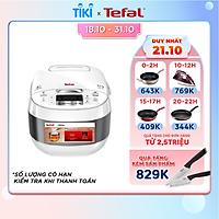 Nồi cơm điện cao tần Tefal RK808168 1.5L - 1200W - Công nghệ Fuzzy logic - Lòng nồi niêu dày 3mm với 5 lớp tích hợp - Ứng dụng công nghệ điện từ IH - Hàng chính hãng