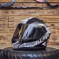 Mũ bảo hiểm fullface AGU Tem 16 Phân Tử Bạc - Tặng túi đựng nón thương hiệu