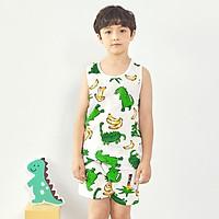 Bộ đồ ba lỗ mặc nhà cotton giấy cho bé trai U4016 - Unifriend Hàn Quốc, Cotton Organic