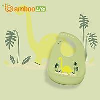 Yếm ăn dặm cho bé Bamboo Life BL068 hàng chính hãng Yếm ăn dặm silicon Yếm ăn dặm có máng chống bám bẩn Đồ dùng ăn dặm cho bé