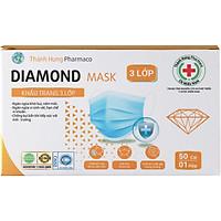 Khẩu Trang Y Tế Kháng Khuẩn Diamond Mask 3 Lớp (Hộp 50 Cái)