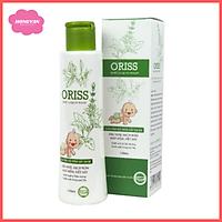 Sữa tắm gội ngừa rôm sẩy an toàn cho bé oriss baby 150ml tặng 2 zipper 12cm