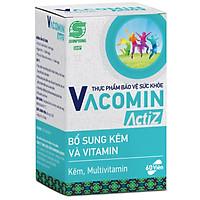 Thực Phẩm Bảo Vệ Sức Khỏe bổ sung vitamin tổng hợp, vitamin nhóm B, E, C và Kẽm hữu cơ Shinpoong Vacomin ActiZ - Hộp 60 viên