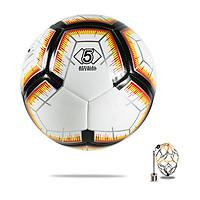 Banh bóng đá da NHA (Đen cam) Số 5 - Tiêu chuẩn thi đấu - Tặng Kim bơm, Túi Lưới