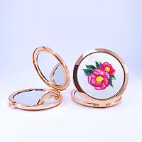 Gương Thêu Tay, Gương Trang Điểm Mini - Họa Tiết Thêu Thời Thượng, Sang Trọng, Quý Phái - Quà Tặng Vợ Ngày 20 Tháng 10