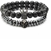 Bộ Vòng Tay Nam Phong Thủy Đế Vương Showfay Jewelry TB0100 - Đen
