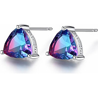 Bông tai bạc nữ chất liệu bằng bạc ý s925 thật cho nữ đính đá cầu vòng cao cấp B1453 Bảo Ngọc Jewelry