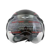 Mũ Bảo Hiểm 1/2  thời trang có kính  Bktec - Hàng chính hãng