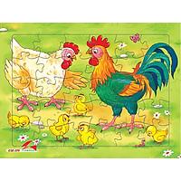 Xếp hình Tia Sáng  Đàn gà   (30 Mảnh Ghép) - Tặng kèm tranh tô màu cho bé