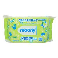 Gói 80 Tờ Giấy Ướt Moony Bảo Vệ Bé Yêu - Nội Địa Nhật Bản