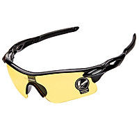Unisex Anti-UV  Glasses Cycling Goggles Sports Riding Sunglasses  Frame color:Night vision yellow