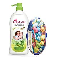 Sữa tắm kháng khuẩn dưỡng da Gervenne 900gr + Tặng kèm hộp nhựa đựng thực phẩm