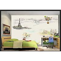 Tranh dán tường 3d trang trí lớp học - ép kim sa - có sẵn keo TB76