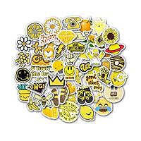 Bộ 50 miếng Sticker hình dán Yellow Stub