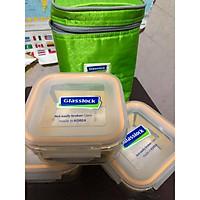 Bộ 3 hộp lạnh thuỷ tinh hộp cơm văn phòng kèm túi giữ nhiệt