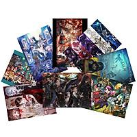 Tranh Poster set 10 tấm Identity V A4 21cmx30cm nhóm và nhân vật