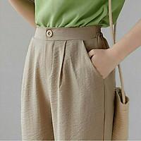 quần baggy đũi cúc khóa kiểu nhật nhiều màu