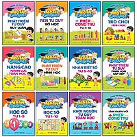 Combo 12 Cuốn Bộ Sách Thiên Tài Toán Học (Từ  3 - 4 -5 - 6 Tuổi)