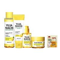 Bộ Sản phẩm dưỡng sáng da, mờ thâm Some By Mi Yuja Niacin ( Toner 150ml + Gel Cream 100ml+ Serum 50ml + Sleeping Mask 60g ) + tặng kèm 1 mặt nạ mắt Mediheal