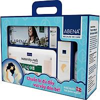 [Combo chăm sóc mẹ bầu và đi sinh] Nhập khẩu từ Đan Mạch -  Abena Nhẹ Nhàng Chăm Sóc (8 món) - An toàn cho mẹ và bé