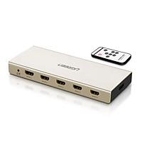 Bộ gộp HDMI 5 Vào 1 Ra + Optical và Audio 3.5 Cao Cấp Ugreen 40370CM129 Hàng chính hãng