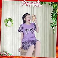 (Size đến 85Kg) Đồ bộ mặc nhà nữ đẹp, set đồ bộ thun nữ, đồ bộ nữ, set đồ mặc nhà thoải mái, bộ quần áo nữ - Anquachi