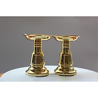 Chân nến thờ cúng cho bàn thờ diện tích nhỏ bằng đồng nguyên chất