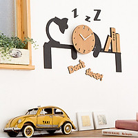 Đồng hồ treo tường trang trí kim trôi Don't Sleep - Wall clock