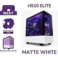 Vỏ Case Máy Tính NZXT H510 ELITE - Trắng sần- Hàng Chính Hãng