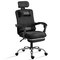 Ghế lưới văn phòng, ghế gaming  chân xoay cao cấp ngã 135 độ Mẫu B300 BLACK ( hàng nhập khẩu)
