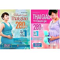 Combo sách thai giáo theo chuyên gia và  hành trình thai giáo 280 ngày tặng truyện song ngữ bìa mềm hai nàng công chúa