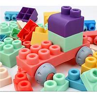 Đồ chơi Lắp ráp - Bộ Lắp ghép, xếp hình DẺO KÍCH THƯỚC SIÊU TO CHO BÉ TỪ 18m+