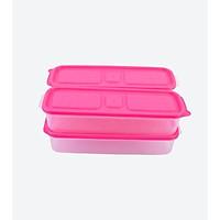 Combo 3 hộp nhựa đựng thực phẩm Hàn Quốc - Set 01 - Màu Hồng