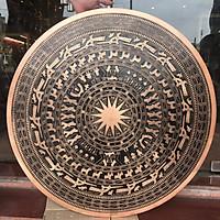 MẶT TRỐNG ĐỒNG NGỌC LŨ ĐÚC HOA VĂN NỔI TINH XẢO 80CM