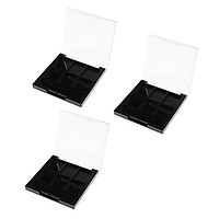 3 Pcs 6 Slots Hollow Empty Makeup Eyeshadow Palette Highlights Blusher Square Case