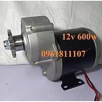 Motor giảm tốc 12V 600W 45 vòng phút dùng làm xe điện