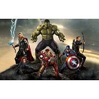 Decal dán tường siêu anh hùng 3D,trang trí phòng, biệt đội siêu anh hùng, PVP-DAH01