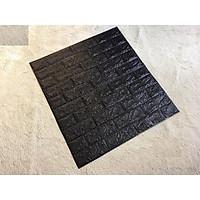 Combo 60 tấm xốp dán tường giả gạch tt91 màu đen