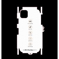Miếng Dán Mặt Lưng PPF CHỐNG VÂN TAY Thế Hệ Mới Dành Cho Iphone 11/ iPHONE 11 PRO/ iPHONE 11 PRO MAX - Handtown- Hàng Chính Hãng