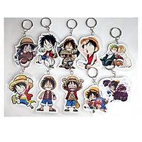 Móc khóa anime One Piece - nhân vật Luffy (Giao Ngẫu Nhiên 1 Móc Khóa)